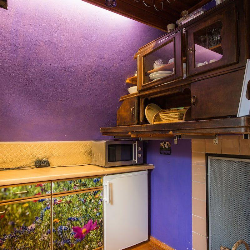 Küche mit urigem Ambiente.