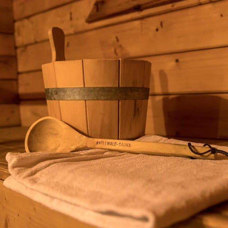 Relaxen in der hauseigenen Sauna.