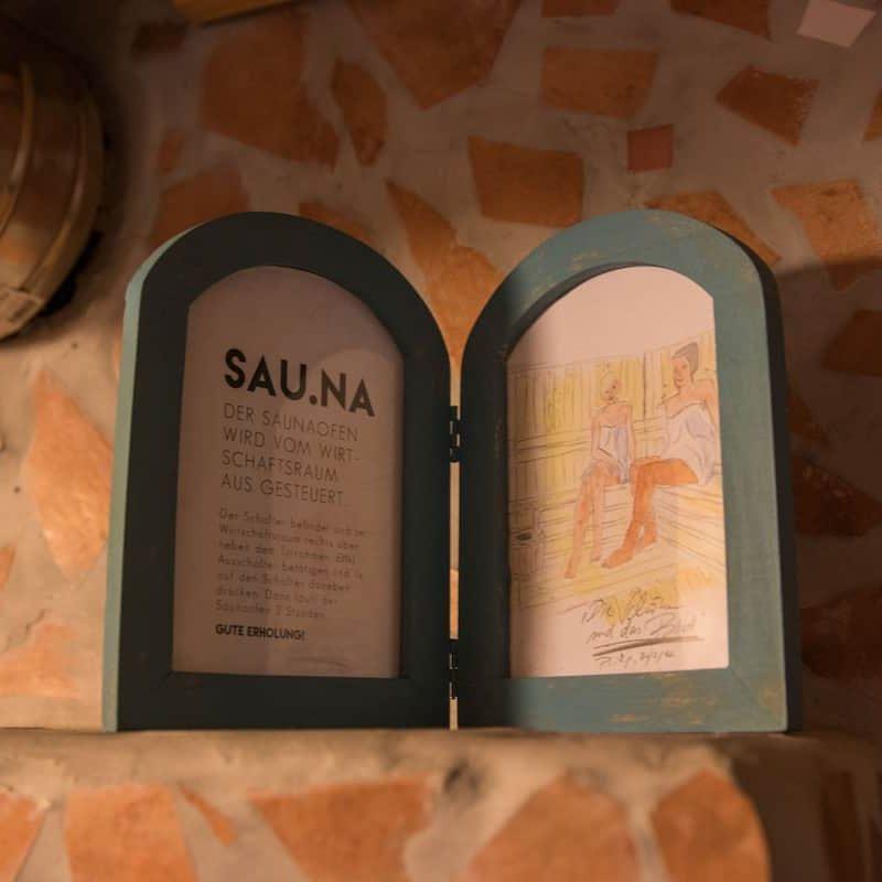 Willkommen in der Bergwelt-Sauna.