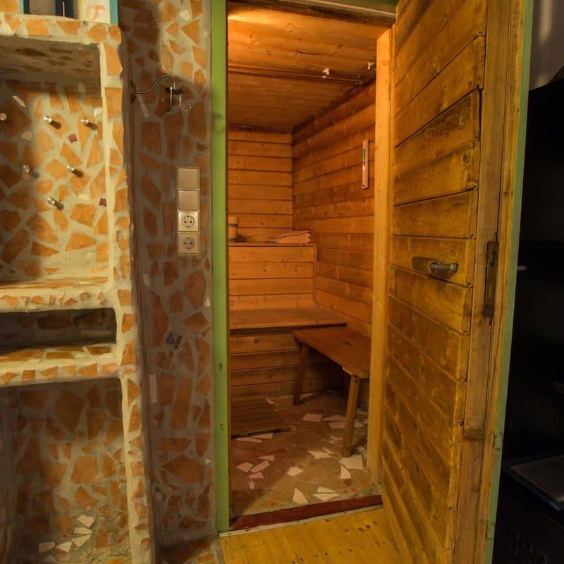 Entspannung und Wellness in der Sauna.