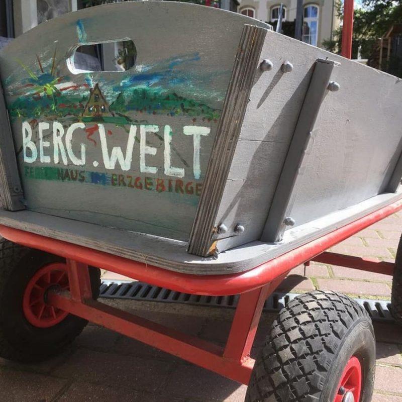 Bollerwagen für Wanderungen.