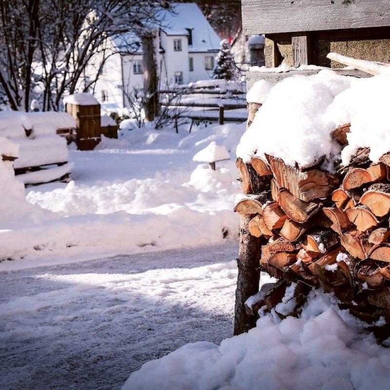 Winterromantik im großen Garten.