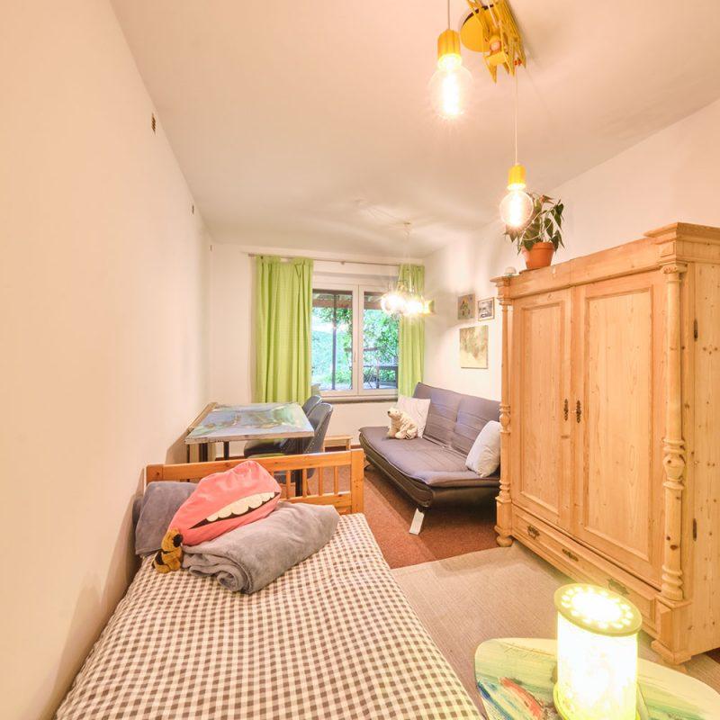 Prinz & Prinzessin – Schlafzimmer mit 1 oder 2 Einzelbetten.